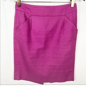 ❤️J. crew•The pencil skirt in orchid purple